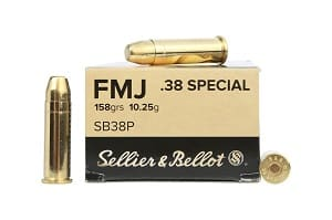 ​SELLIER & BELLOT - 38 SPECIAL 158GR FMJ AMMO