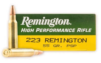 Remington 223 Rem 55 Grain PSP Rounds